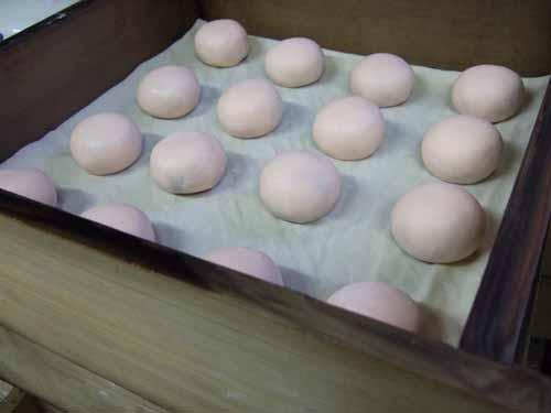 紅白まんじゅう(紅白饅頭)の作り方(その3)