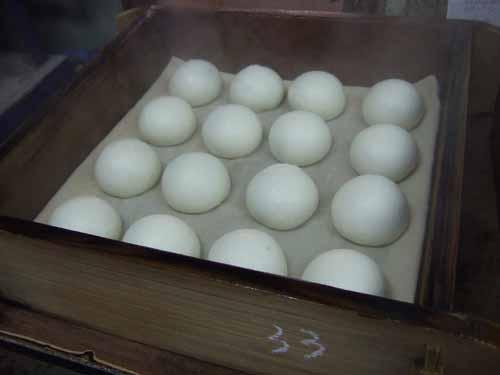 白挽茶まんじゅう(青白饅頭)の作り方(その5)