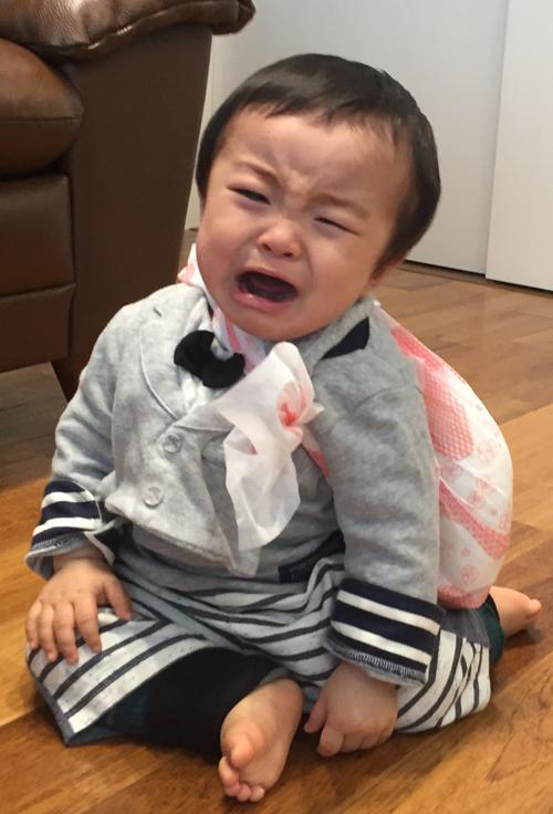 一升餅(誕生餅)でお誕生祝いされた 高浦 紘希ちゃん のカワイイお写真